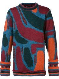 свитер с абстрактным узором Issey Miyake