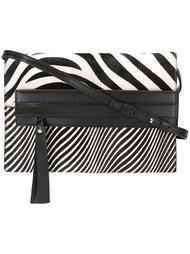 сумка на плечо с зебровым принтом  Elena Ghisellini