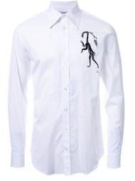 рубашка с вышивкой  Alexander McQueen