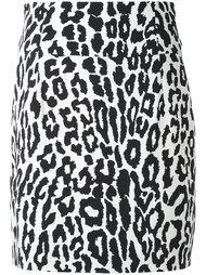 юбка с леопардовым принтом   Alexandre Vauthier