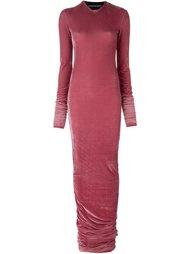 обтягивающее бархатное платье Y / Project