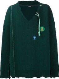 свободный свитер с V-образным вырезом Raf Simons