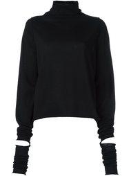 пуловер с отворотной горловиной и разрезами Isabel Benenato