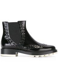 ботинки с декоративной прошивкой  Tod's
