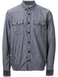 рубашка с бархатными манжетами Sacai
