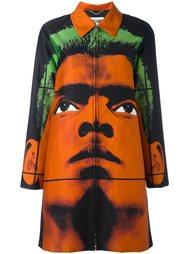 пиджак с принтом лица Moschino