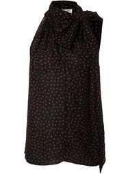блузка без рукавов  Saint Laurent