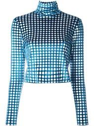 укороченная блузка с бархатным эффектом House Of Holland