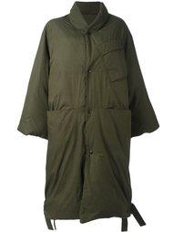 стеганое пальто без воротника Oamc