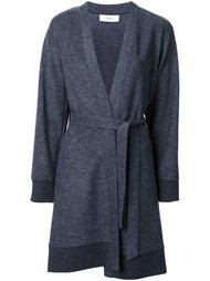 однобортное пальто с поясом Astraet