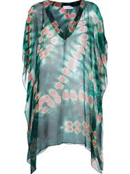 V-neck printed beach dress Brigitte