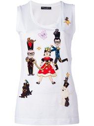 топ с заплаткой 'Designers Fairytale' Dolce & Gabbana