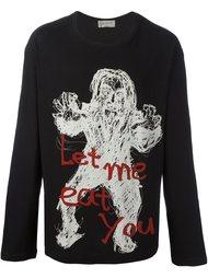 толстовка 'Let Me Eat You' Yohji Yamamoto