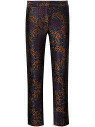жаккардовые брюки прямого кроя  Yigal Azrouel