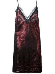 платье с эффектом металлик  House Of Holland