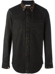джинсовая рубашка с заклепками на воротнике Givenchy