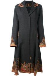 приталенное пальто с узором пейсли Etro