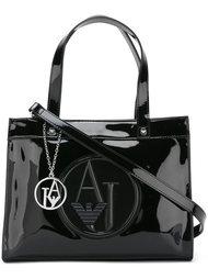сумка-тоут с принтом-логотипом Armani Jeans