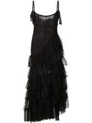 платье с многоярусной юбкой Alessandra Rich