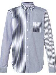 patchwork stripe shirt  Wooster + Lardini