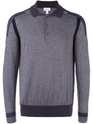 рубашка-поло с полосами на рукавах Brioni