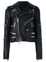 байкерская куртка с отделкой молниями Unravel