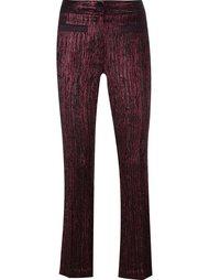 брюки с эффектом металлик  L'Autre Chose