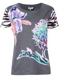 футболка с цветочным принтом Kenzo