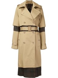 check panel trench coat Maison Margiela