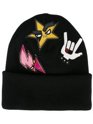 шапка-бини 'Punk' с нашивками Dsquared2
