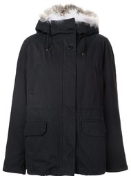 fur trimmed parka  Army Yves Salomon