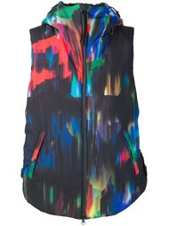 abstract print shell gilet Y-3