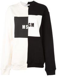 толстовка с принтом логотипа MSGM