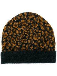 шапка с леопардовым принтом Christian Wijnants