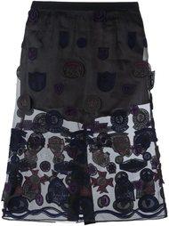 юбка с заплатками Sacai