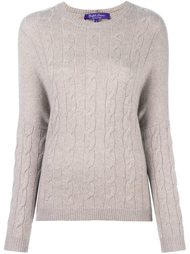 cable knit jumper Ralph Lauren Purple