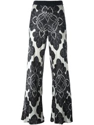 floral print flared trousers Hache