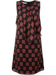 драпированное платье с геометрическим узором Marni