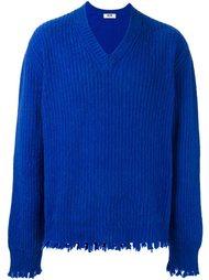 свитер с необработанными краями   MSGM