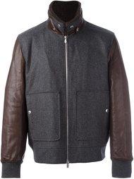contrast sleeve bomber jacket Brunello Cucinelli