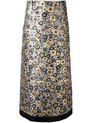 юбка с вышивкой  Emanuel Ungaro