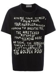 футболка с принтом Yohji Yamamoto
