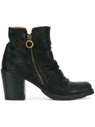 crease effect zip ankle boots Fiorentini +  Baker