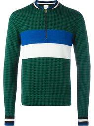 puppytooth zip neck sweater Paul Smith