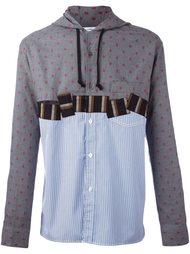 panelled hooded shirt Comme Des Garçons Shirt