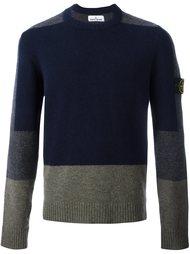 свитер дизайна колор-блок Stone Island