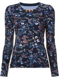 floral print fine knit sweatshirt Lucas Hugh