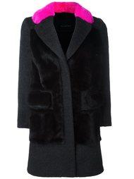 пальто с контрастным воротником Blancha