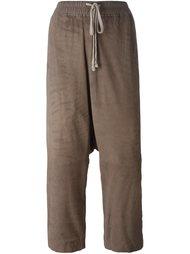 укороченные брюки с заниженной шаговой линией Rick Owens