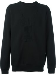 embroidered long sleeve sweatshirt Rick Owens DRKSHDW